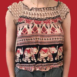 Band of Gypsies elephant pattern top 🐘🌞